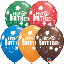 Birthday Bold Dots - 11 Inch Balloons 25pcs